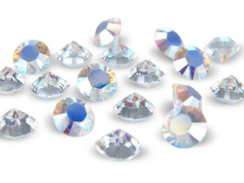 Pk 100 Swarovski Unfoiled Table Crystals, Style 1088, PP32 (4mm), Crystal AB
